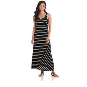 Kensie Pieces Green Striped Maxi Dress 🔥NWT